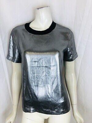 RAG & BONE size small silver metallic short-sleeve top