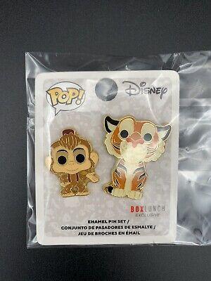 Funko Pop! Disney Aladdin Pets Abu & Raja Enamel Pin Box Lunch Exclusive SEALED