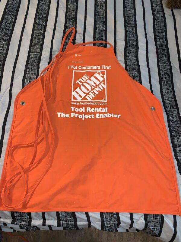 New Home Depot Orange Large Adult Employee Apron