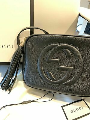 100% Authentic Gucci Disco Crossbody Bag Black