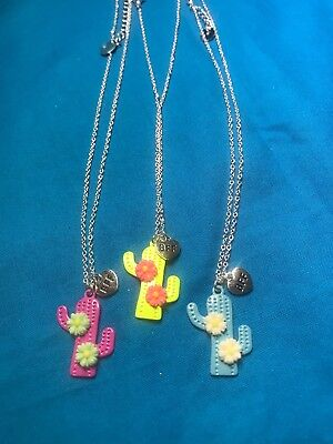 Set Of Three Claire's Cactus Bff Best Friend
