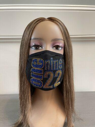 Sigma Gamma Rho 1922 Bling Rhinestone Face Mask