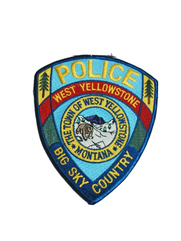 G Police patch patches town of West Yellowstone Montana