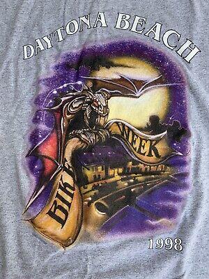 Daytona Beach Bike Week 1998 T-Shirt VTG Motorcycle Harley Davidson Indian RARE