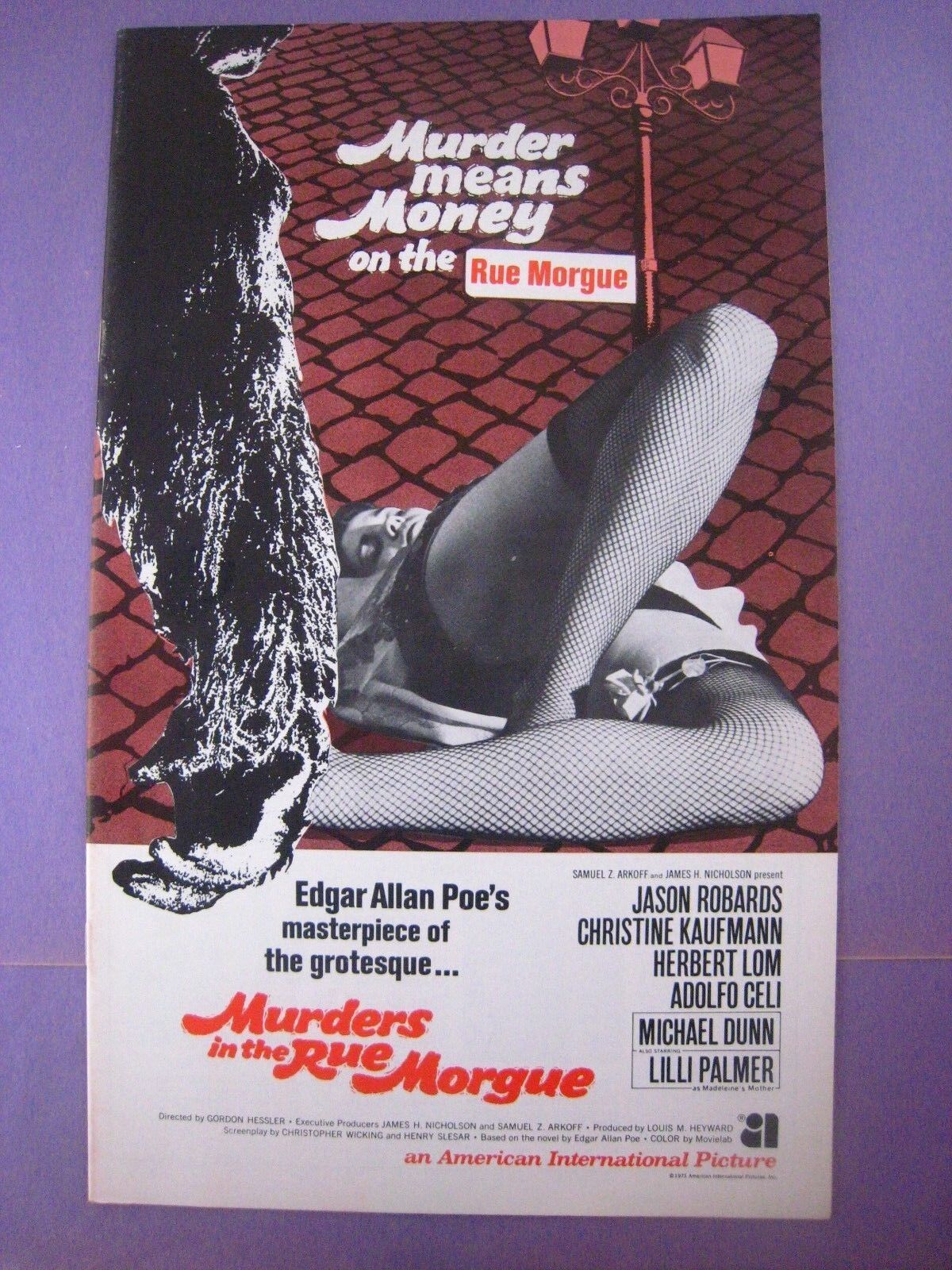 Pressbook.. Murders In The Rue Morgue .Original..14 X 8.5 In. .. - $15.98