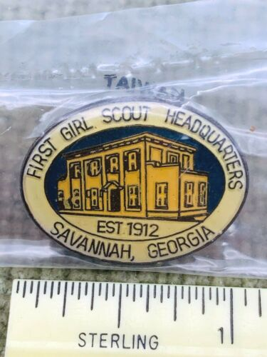 Girl Scout Juliette Low Birthplace First Headquarters Pin Early 2000s New
