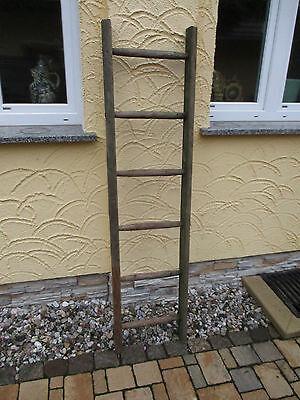 alte Holzleiter(30G) Deco Blumenampel Baumleiter Handtuchhalter Kleiderhalter