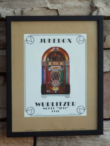 "1946 WURLITZER Jukebox Model 1015 Framed Poster Coin-Op Music Machine 11""x14"""