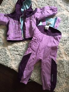 Girls 24 months coat and Columbia snowsuit