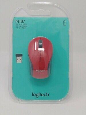 Usado, RED Logitech M187 - Tiny Mouse - optical - wireless - 2.4 GHz - USB receiver  segunda mano  Embacar hacia Mexico