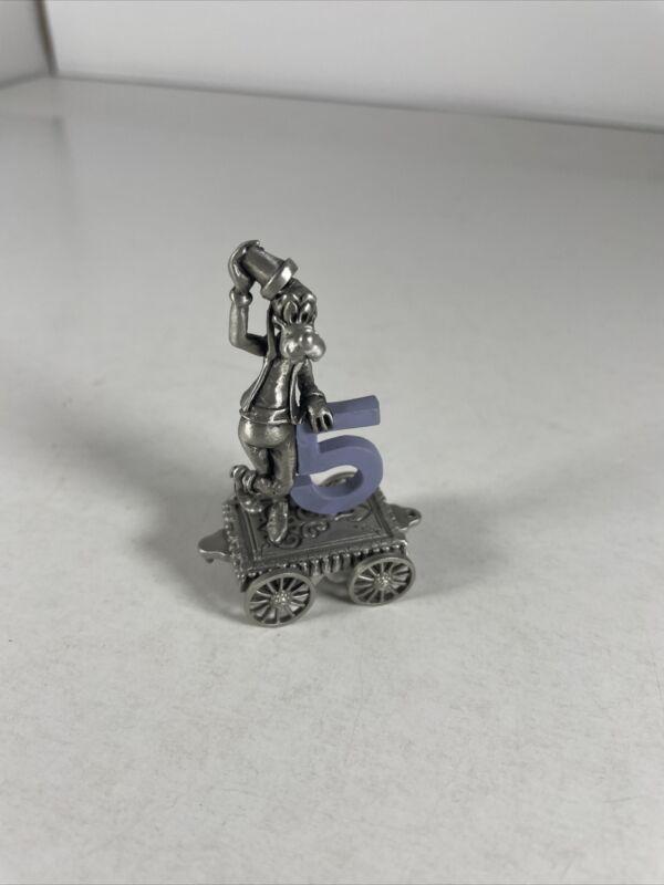 Hudson Pewter Disney Goofy #5 Birthday Train Figurine
