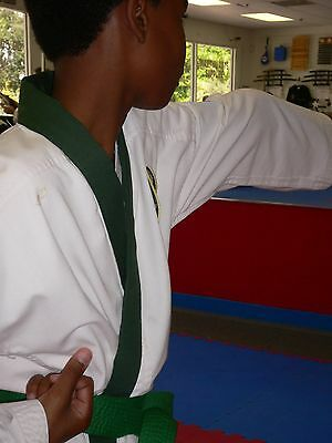 Karate Uniform GREEN TRIM KIT Tang Soo Do Tae Kwon Do