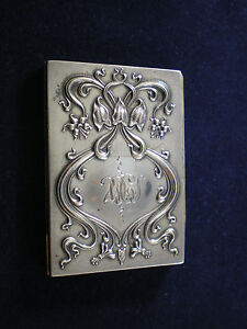 Sterling Silver Double Art Nouveau  Folding Picture Frame  2 x 3
