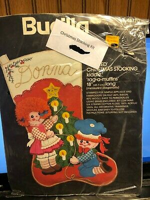 VINTAGE SEALED IN PACKAGE BUCILLA 48770 KIDIE RAG-A-MUFFINS