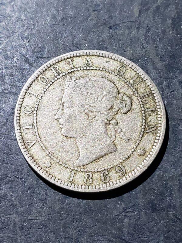 1869 Jamaica One Penny Coin