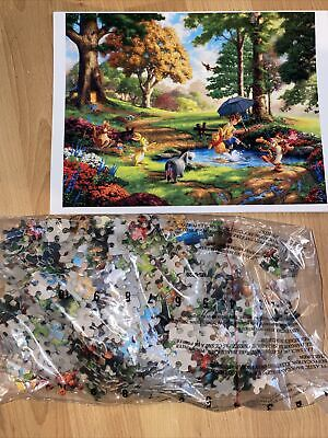 Disney Winnie the Pooh - Thomas Kinkade 500 Piece Puzzle 18 x 14 - Sealed Bag