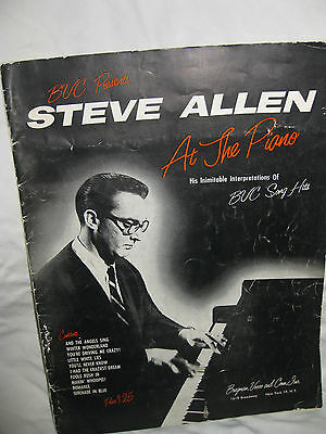 "Steve Allen ""At the Piano"" sheet music  By: Steve Allen  Publisher: Bregman_1956"