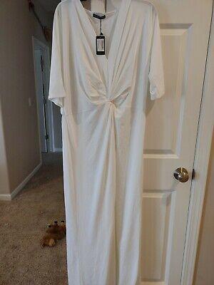 NWT KOH KOH Long Sleeve Wrap V-neck Flowy Evening Modest Maxi Dress Gown 3XL