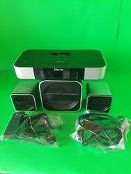 iHome iH5iB System with Satellite Speakers, Alarm Clock Radio and Subwoofer