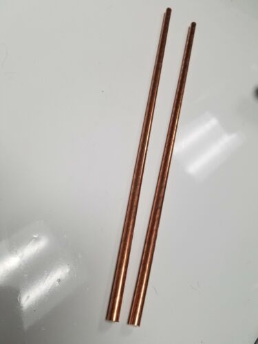"""1/4"""" .25""""  Solid Copper Round stock Bar Rod 12"""" 2 Pieces"""