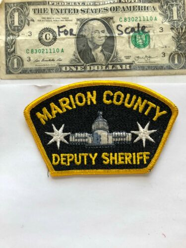 Marion County Oregon Police Patch Deputy Sheriff Un-sewn great condition