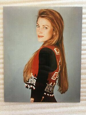 Jane Seymour,  vintage headshot publicity cowboy vest photo