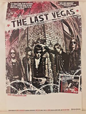 The Last Vegas What Ever Gets You Off RARE PROMO Poster* Motley Crue Guns N Rose