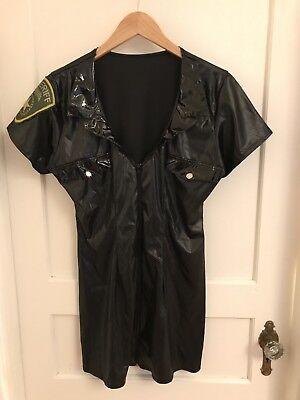 (B67) Leg Avenue Black Sheriff Mini Dress Halloween Costume Size XL (Legs Avenue Halloween)