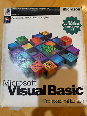 Microsoft Visual Basic 4.0 Professional Edition CD + All Manuals/References