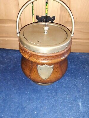 Vintage Retro 1960's Lancraft Laminated Wooden Ice Bucket with Handle