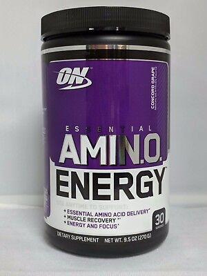 Optimum Nutrition Essential Amino Energy Grape 9.5oz  30 Servings  Go Go Juice