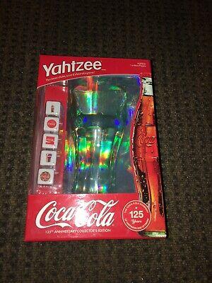 Yahtzee Coca Cola 125th Anniversary Edition 'Glass' W/Dice Game