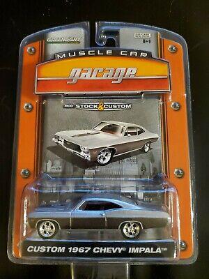 RARE !!  GREENLIGHT MUSCLE CAR GARAGE CUSTOM 1967 IMPALA SILVER VERY RARE!!!!!