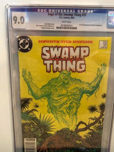 Saga of Swamp Thing #37 GCG 9.0 WP, NewsStand, 1st John Constantine Hellblazer