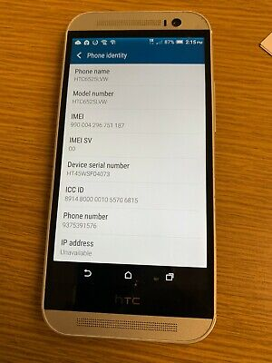 HTC One M8 - 32GB - Glacial Silver (Verizon) Smartphone  HTC6525LVW