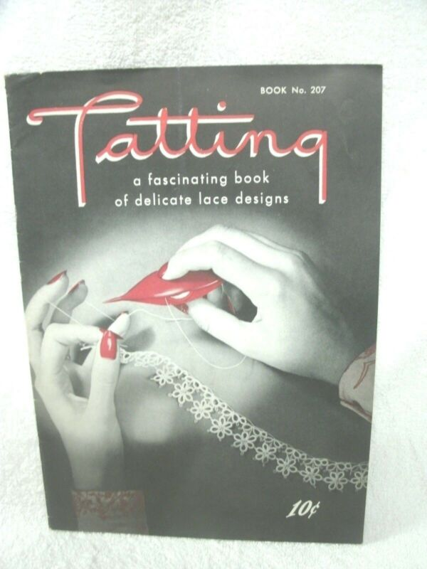 Tatting--1944-- Patterns Edgings Appliques Collar Doily Medallion -Spool Cotton