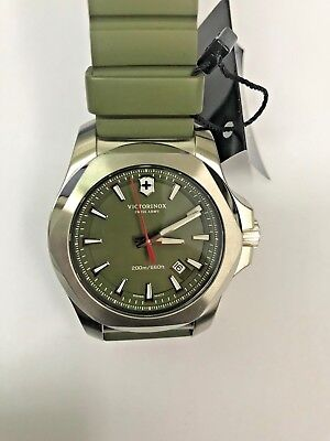 *Used* VICTORINOX Swiss Army Green Dial Green Rubber Men's Watch 241683