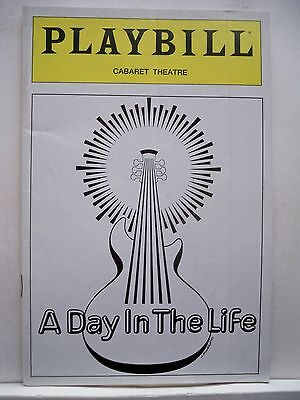 A DAY IN THE LIFE Playbill WORDS & MUSIC OF JOHN LENNON & PAUL McCARTNEY