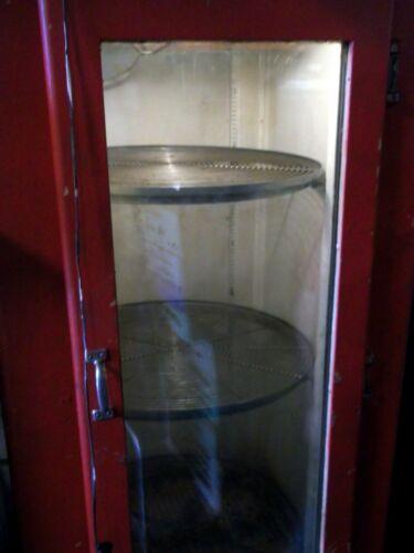 ROUND ROTATING SHELF Vintage Bottle Beer Cooler CROWN BEVODOR Refrigerator