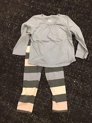 - Toddler Gap Kids Gap Playtime Favorites Outfit Grey Pink Blue Stripes Size 4 T