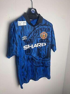 Vintage 1992 Manchester United Away Classic Football Shirt Umbro Original image