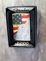 Zippo ,fender Guitarra, Con Ee.uu. Bandera - Cromo Pulido - & - 508 - zippo - ebay.es