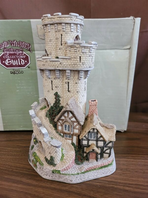 David Winter Cottages 1993 CASTLE COTTAGE OF WARWICK Carnival Exclusive Signed