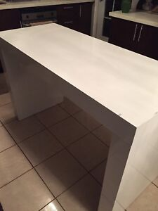 Kitchen island bar height table