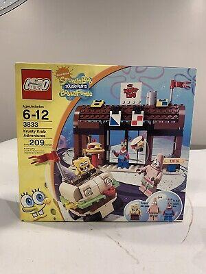 Spongebob Squarepants Lego Set 3833 Krusty Krab Adventures NEW SEALED