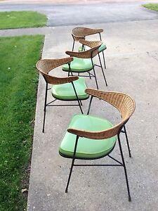 MID CENTURY MODERN Salterini Style Tiki Lounge Chairs