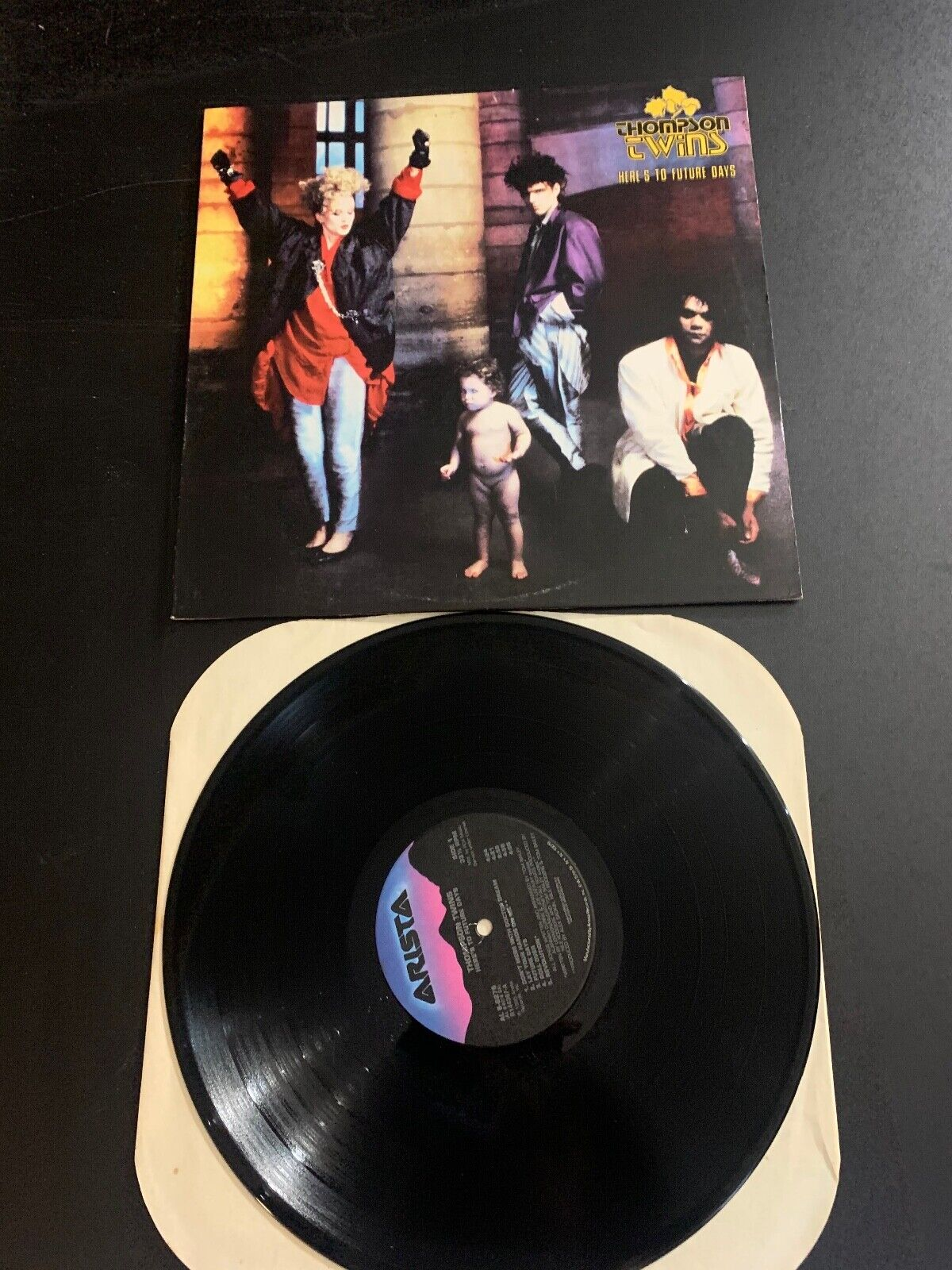 LP RECORD - THOMPSON TWINS - HERE S TO FUTURE DAYS - ARISTA RECORDS - $9.99