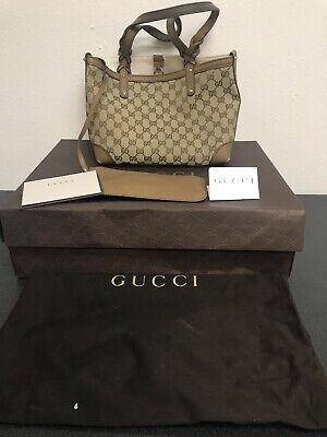 Vintage Gucci Logo Shoulder Bag And Wallet w/ Dust Bag & Original Box