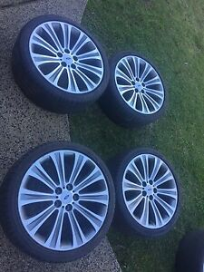 Ford g6e turbo 19inch rims with 2 ok tyres East Maitland Maitland Area Preview