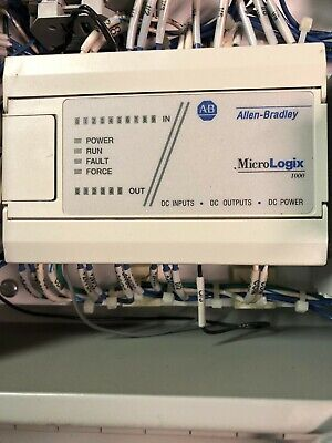Allen Bradley Micrologix 1000 Controller With Electrical Box Enclosure